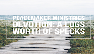 Peacemaker Ministries Devotion: A Logs Worth of Specks